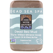 One with Nature Triple Milled Mineral Soap Bar Dead Sea Mud Fragrance-Free 7 oz (200 g)