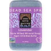 One with Nature Triple Milled Mineral Soap Bar Lavender 7 oz (200 g)