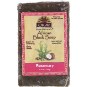 Okay African Black Soap Rosemary 5.5 oz (156 g)