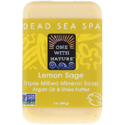 One with Nature Triple Milled Mineral Soap Bar Lemon Sage 7 oz (200 g)