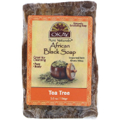 Okay African Black Soap Tea Tree 5.5 oz (156 g)