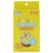 ColorKitchen Party Colors From Nature Yellow Frosting Color & Rainbow Sprinkles 1.33 oz (37.74 g)