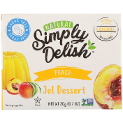 Natural Simply Delish Natural Jel Dessert Peach 0.7 oz (20 g)