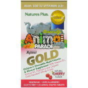 Nature's Plus Source of Life Animal Parade Gold Children's Chewable Multi-Vitamin & Mineral Supplement Natural Cherry Flavor 120 Animal-Shaped Tablets