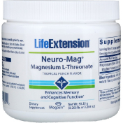Life Extension Neuro-Mag Magnesium L-Threonate Tropical Punch Flavor 0.206 lb (93.35 g)