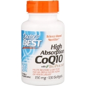 Doctor's Best High Absorption CoQ10 with BioPerine 100 mg 120 Softgels