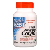 Doctor's Best High Absorption CoQ10 with BioPerine 100 mg 120 Veggie Caps