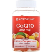 Nutrition Now CoQ10 Natural Peach Flavor 200 mg 60 Gummies