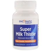 Enzymatic Therapy Super Milk Thistle 60 вегетарианских капсул