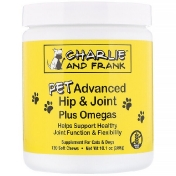 Charlie & Frank Pet Advanced Hip & Joint Plus Omegas For Cats & Dogs 120 Soft Chews