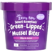 Zesty Paws Green-Lipped Mussel Bites for Dogs Hip & Joint Health All Ages Chicken Flavor 90 Soft Chews