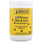 Charlie & Frank Pet Omega Skin & Coat with Omega-3 For Cats & Dogs 180 Soft Chews