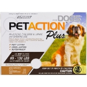 PetAction Plus For Xlarge Dogs 3 Doses - 0.136 fl oz Each