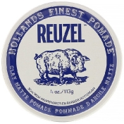 Reuzel Clay Matte Pomade Water Soluble Medium Hold 4 oz (113 g)