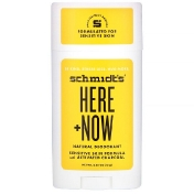 Schmidt's Naturals Natural Deodorant Sensitive Skin Formula with Activated Charcoal Here + Now 2.65 oz (75 g)