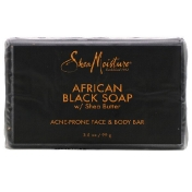 SheaMoisture Acne Prone Face & Body Bar African Black Soap with Shea Butter 3.5 oz (99 g)