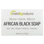Mild By Nature African Black Soap Bar 5 oz (141 g)