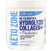 Divine Health Dr. Colbert's Keto Zone Hydrolyzed Collagen Plus Probiotics Unflavored 20.74 oz (588 g)