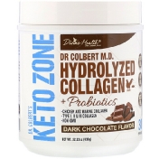 Divine Health Dr. Colbert's Keto Zone Hydrolyzed Collagen Dark Chocolate 22.22 oz (630 g)