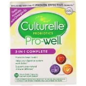 Culturelle Probiotics Pro-Well 3-in-1 Complete 30 Once Daily Capsules