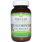 Pioneer Nutritional Formulas Children's Cal Mag & D Chocolate 120 Chewables