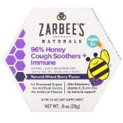 Zarbee's 96% Honey Cough Soothers + Immune Support Natural Mixed Berry Flavor Ages 5+ 14 Pieces