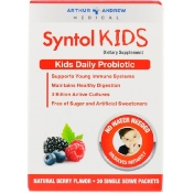 Arthur Andrew Medical Syntol Kids Kids Daily Probiotic Natural Berry Flavor 30 Single Serve Packets