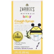 Zarbee's Baby Cough Syrup Agave & Thyme Natural Grape Flavor 2 fl oz (59 ml)