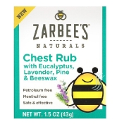 Zarbee's Chest Rub with Eucalyptus Lavender Pine & Beeswax 1.5 oz (43 g)