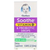 Gerber Soothe Vitamin D & Probiotic Drops Birth+ 0.34 fl oz (10 ml)