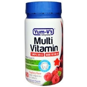 YumV's Multi Vitamin for Adults Raspberry Flavor 60 Jelly Vitamins