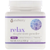 Youtheory Relax Magnesium Powder Stress Formula + L-Theanine Berry 4.4 oz (126 g)