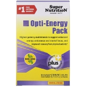 Super Nutrition Opti-Energy Pack Multivitamin/Mineral Supplement Iron-Free 30 Packets (6 Tabs Each)