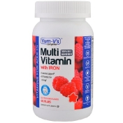 YumV's Multivitamin with Iron Delicious Berry Flavors 60 Jellies (Discontinued Item)