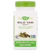 Nature's Way Wild Yam Root 850 mg 180 Vegan Capsules
