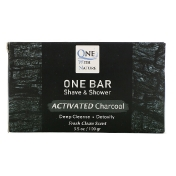 One with Nature One Bar Shave & Shower Activated Charcoal 3.5 oz (100 g)