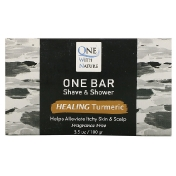 One with Nature One Bar Shave & Shower Healing Turmeric Fragrance Free 3.5 oz (100 g)