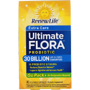 Renew Life Extra Care Ultimate Flora Probiotic 30 Billion Live Cultures 30 Vegetable Capsules