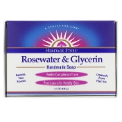 Heritage Store Rosewater & Glycerin Handmade Soap 3.5 oz (100 g)