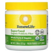 Renew Life Superfood Organic Prebiotic Fiber Refreshing Citrus 3.98 oz (113 g)