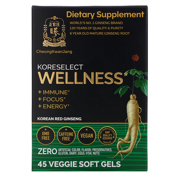Cheong Kwan Jang Koreselect Wellness 45 Veggie Soft Gels