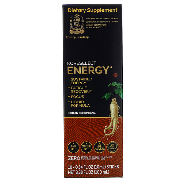 Cheong Kwan Jang Koreselect Energy 10 Sticks 0.34 fl oz (10 ml) Each