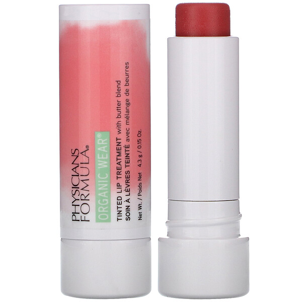 Physicians Formula Organic Wear Tinted Lip Treatment Tickled Pink 0.15 oz (4.3 g)
