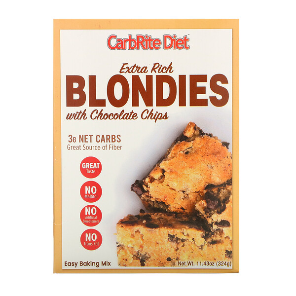 Universal Nutrition CarbRite Diet Extra Rich Blondies with Chocolate Chips Maltitol-Free 11.43 oz (324 g)