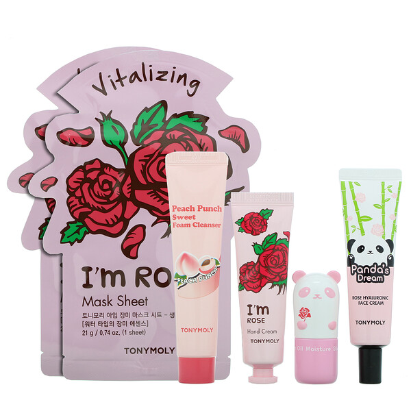 Tony Moly Glow For It Roses & Peaches Set 6 Piece Set