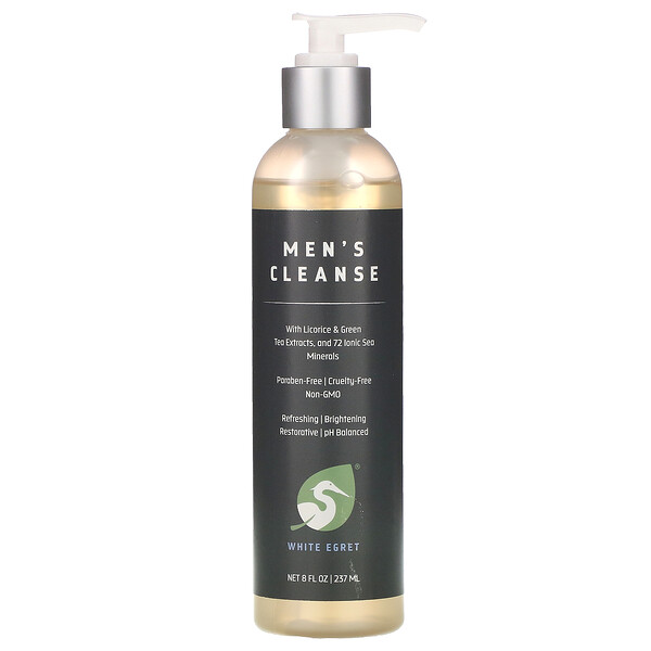 White Egret Personal Care Men's Cleanse 8 oz (237 ml)