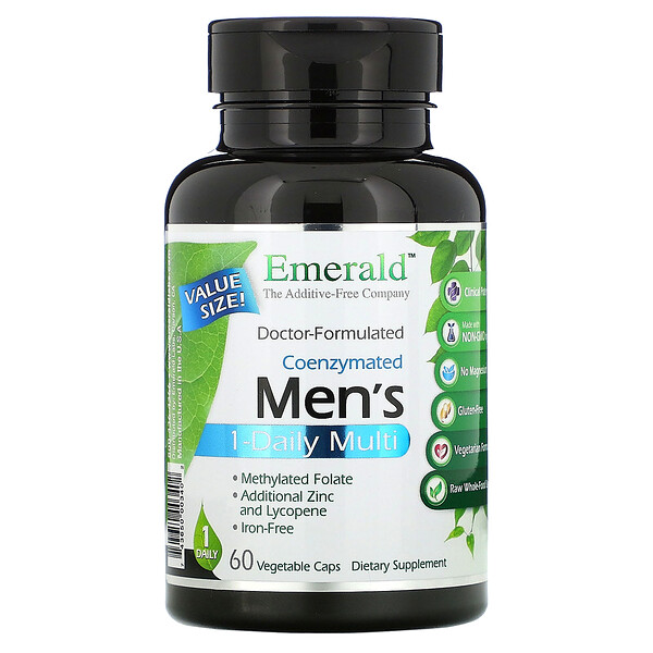 Emerald Laboratories Coenzymated Men's 1-Daily Multi 60 Vegetable Caps