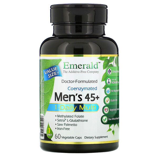 Emerald Laboratories Coenzymated Men's 45+ 1-Daily Multi 60 Vegetable Caps