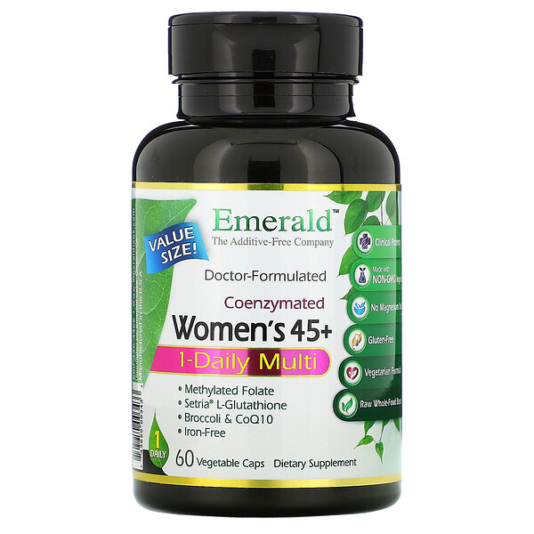 Emerald Laboratories Coenzymated Women's 45+ 1-Daily Multi 60 Vegetable Caps