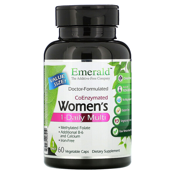Emerald Laboratories Coenzymated Women's 1-Daily Multi 60 Vegetable Caps